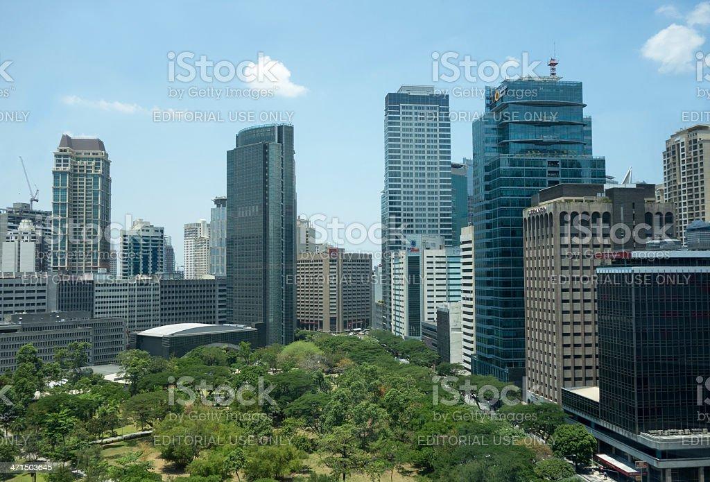 Ayala triangle in Makati City, Manila royalty-free stock photo