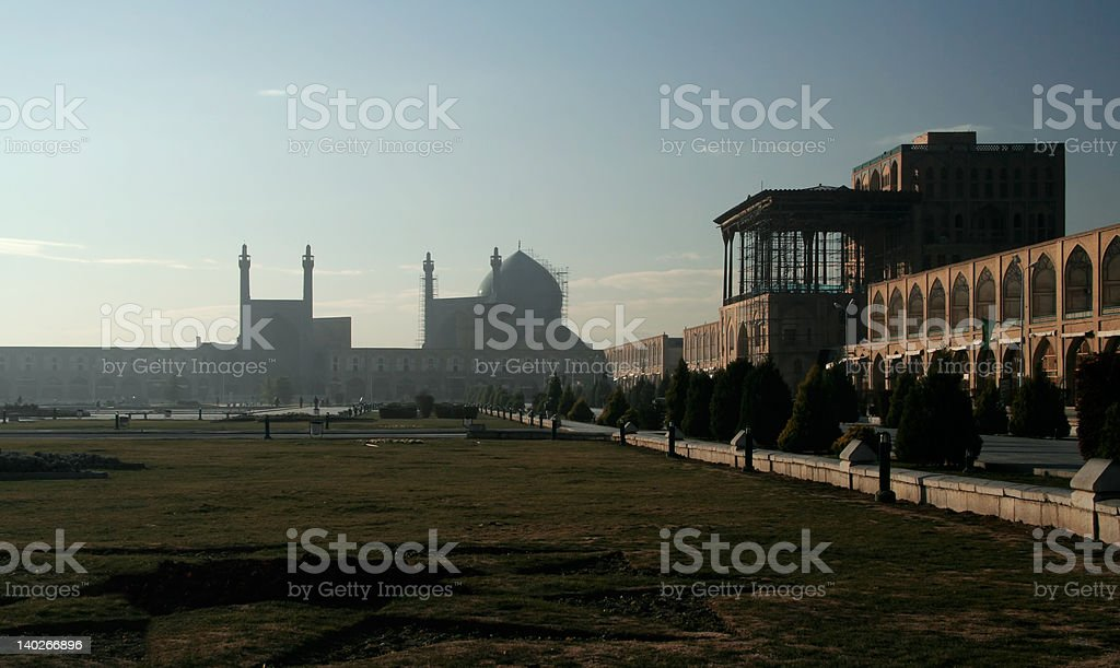 Ayatollah Khamenei square in Isfahan royalty-free stock photo