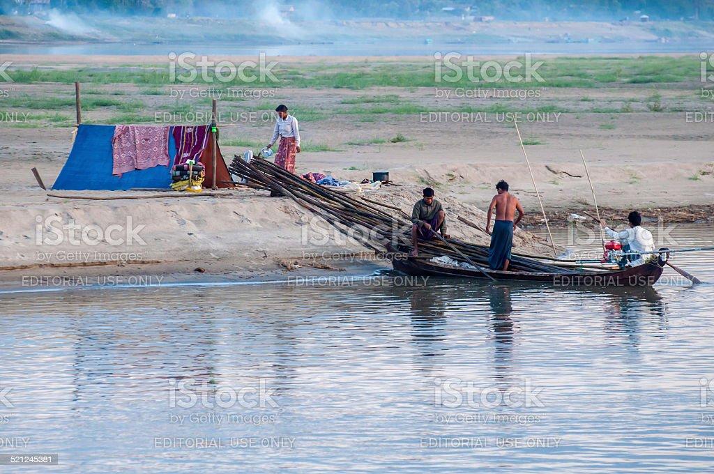 Ayeyarwaddy river stock photo