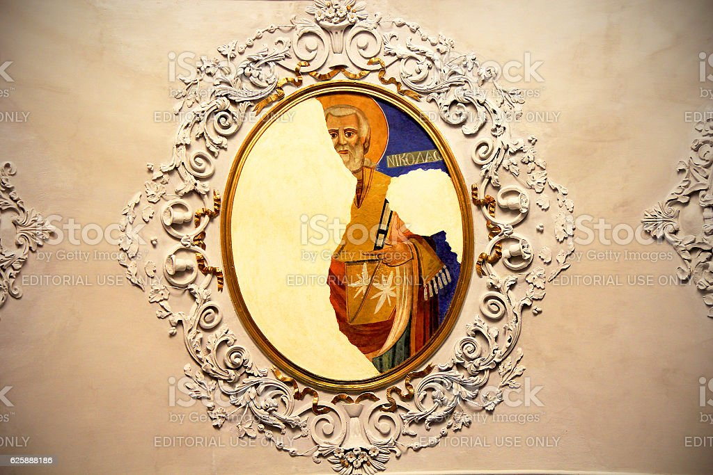 Ayios Haralambos Church's Ceiling stock photo