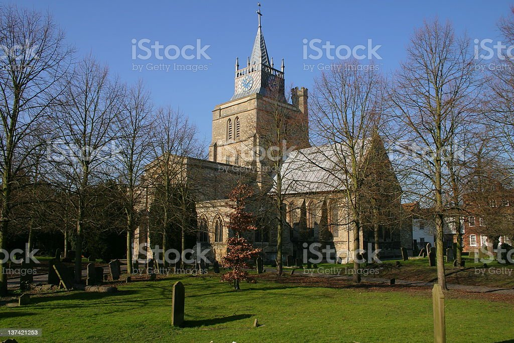 Aylesbury Parish Church stock photo