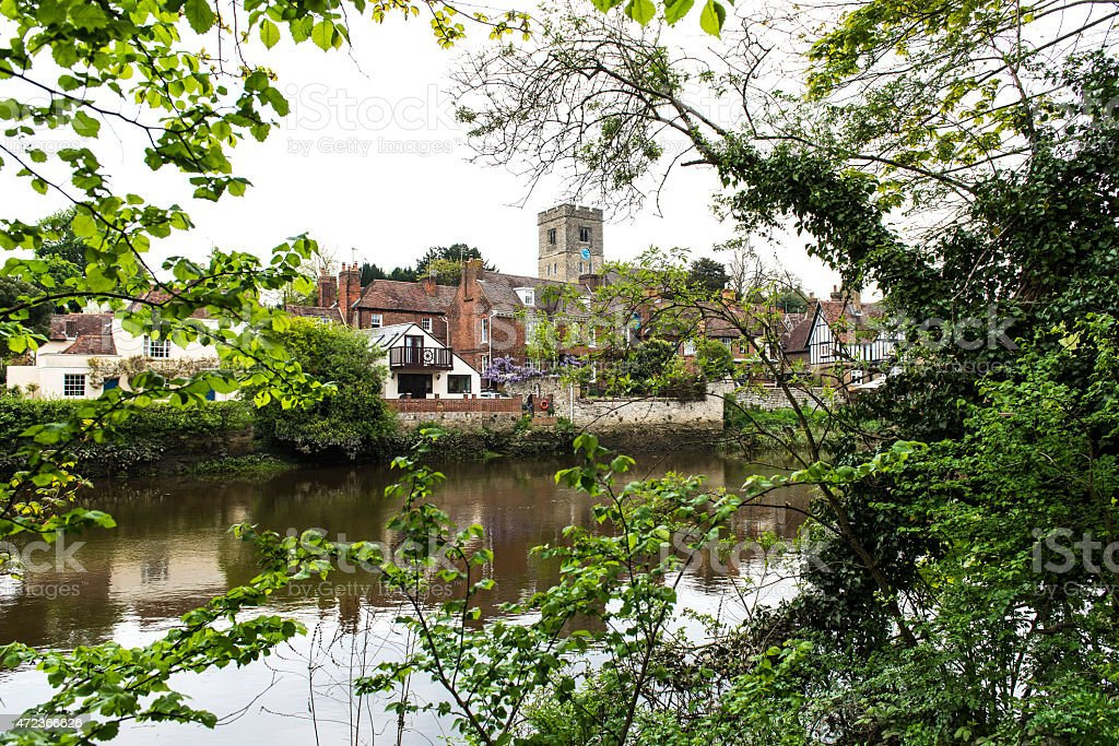 Aylesford and the river Medway stock photo