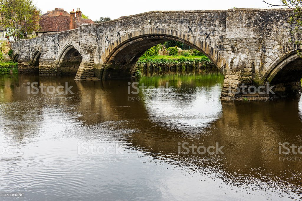 Aylesford Bridge over the RIver Medway stock photo