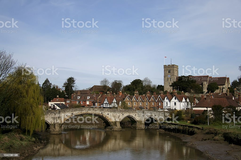 Aylesford medieval bridge royalty-free stock photo