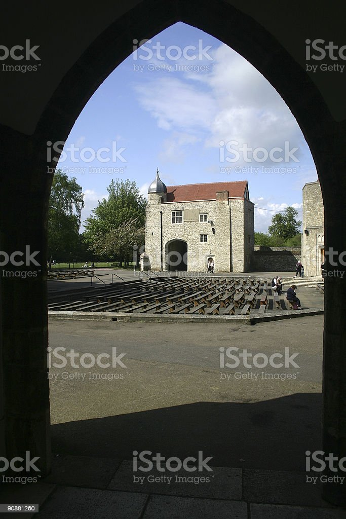 Aylesford Priory in Kent, England royalty-free stock photo