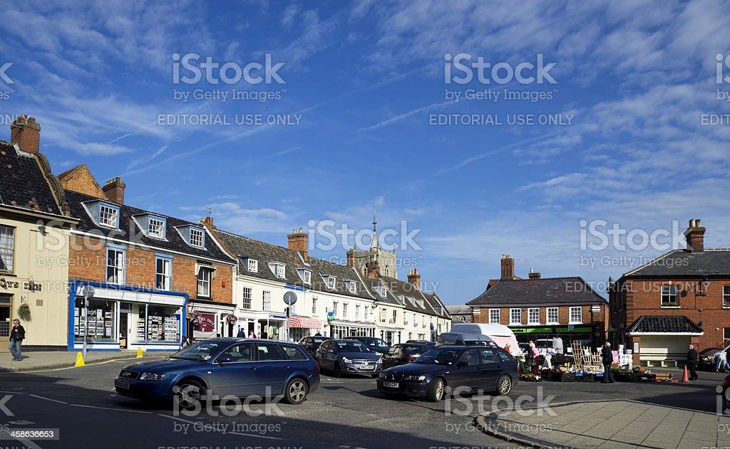 Aylsham Market Place royalty-free stock photo