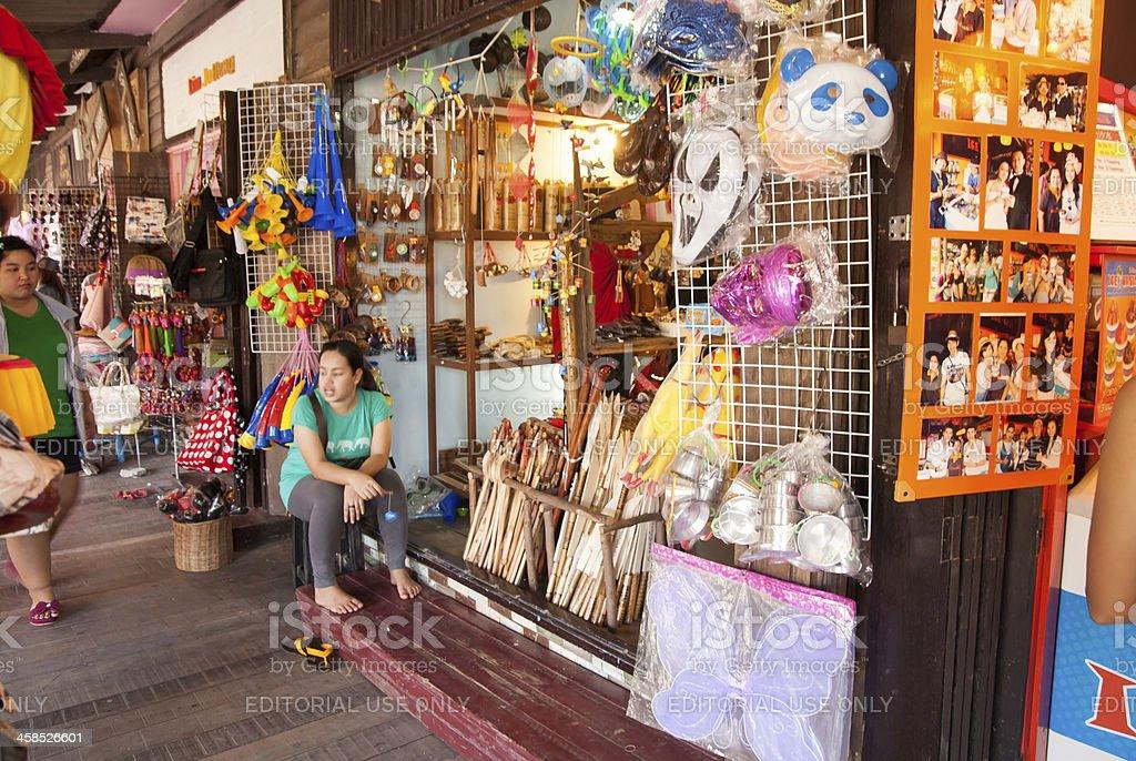 Ayothaya Floating Market, Thailand royalty-free stock photo