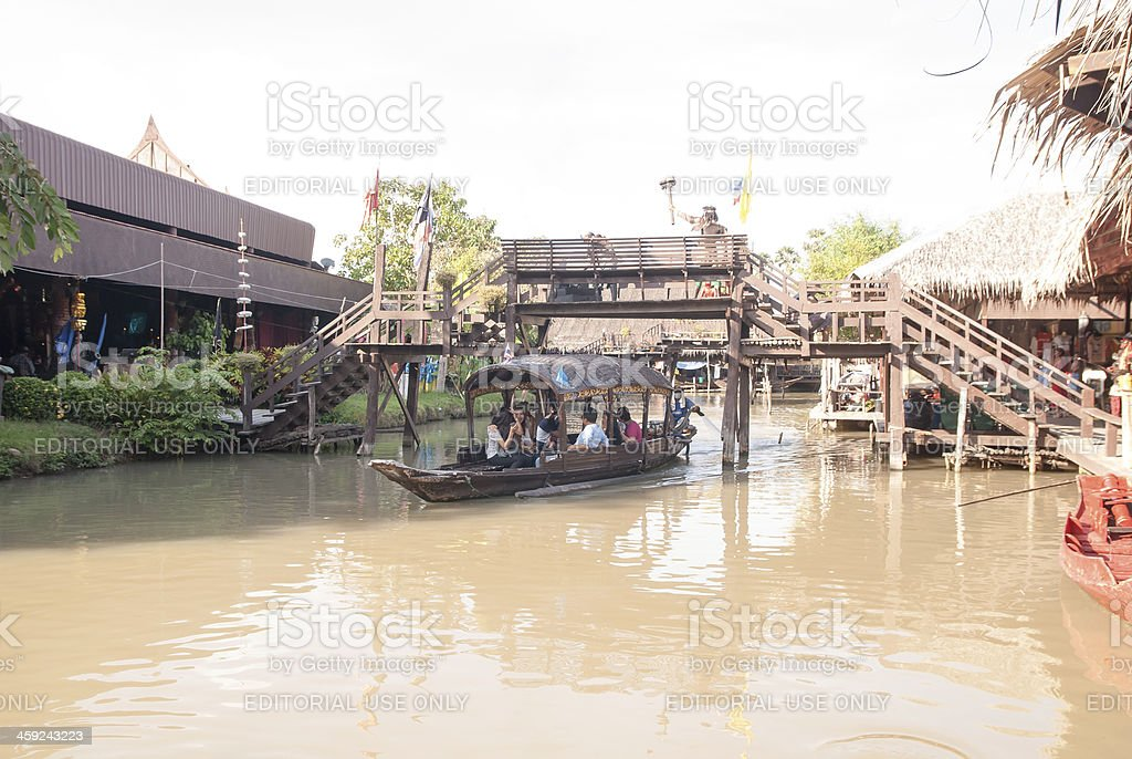 Ayothaya Floating Market, Thailand stock photo
