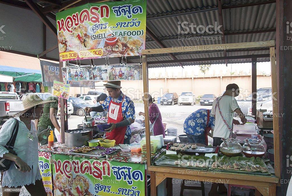 Ayothaya Floating Market, Thailand stock photo