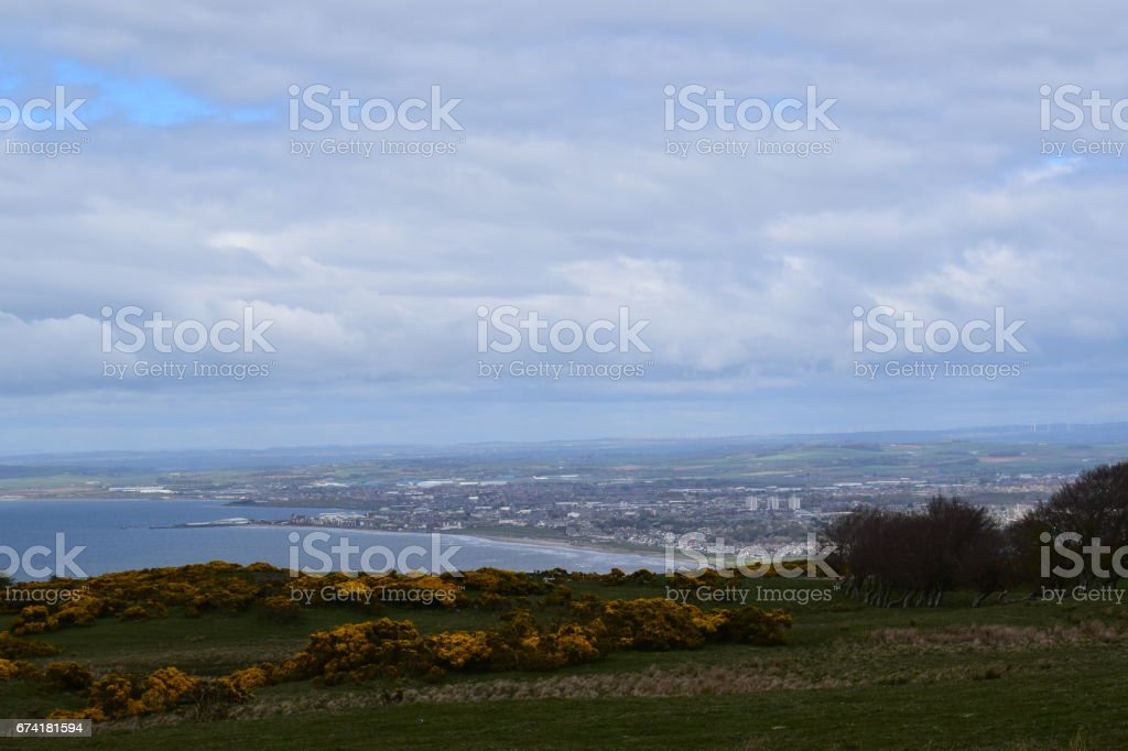 Ayr from the Carrick Hills stock photo