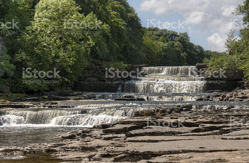 Aysgarth Falls in the Yorkshire Dales royalty-free stock photo