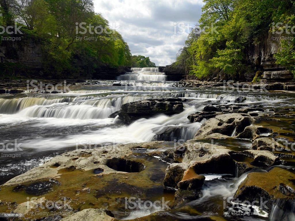 Aysgarth Falls - Wensleydale - Yorkshire Dales - England stock photo