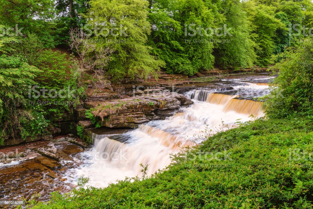 Aysgarth Lower Waterfall stock photo