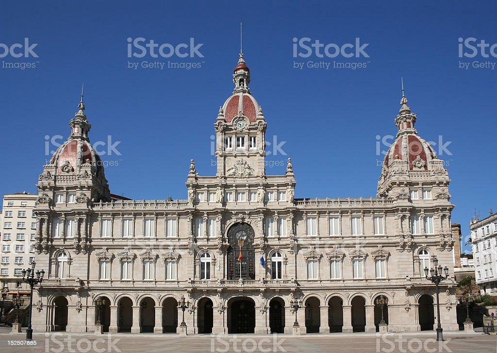 Ayuntamiento de La Coruña - town hall stock photo