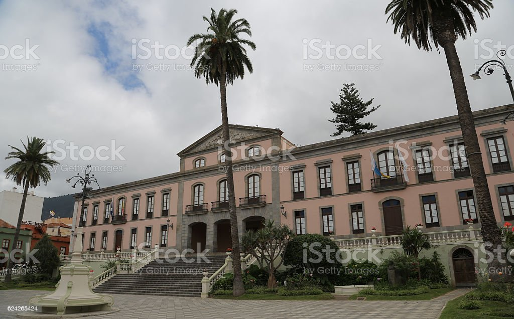 Ayuntamiento, La Orotava, Tenerife stock photo