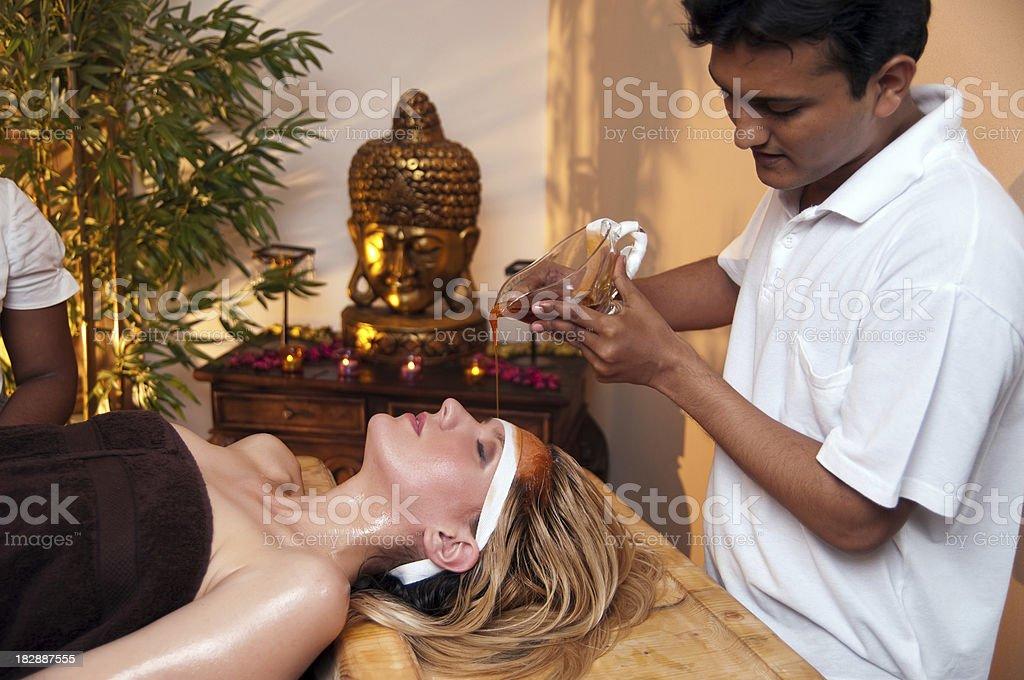 Ayurveda massage stock photo