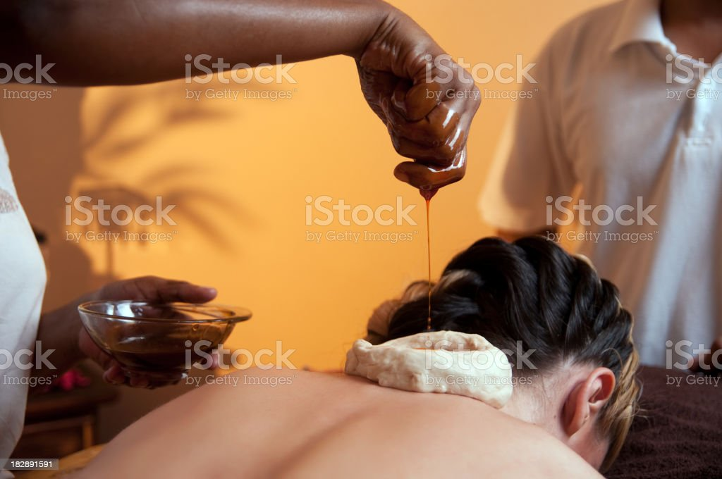 Ayurveda massage stock photo