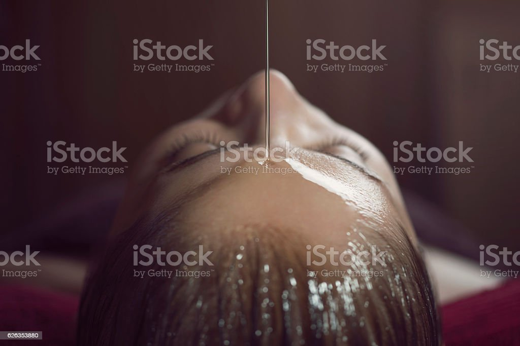 Ayurveda Oil Treatment stock photo