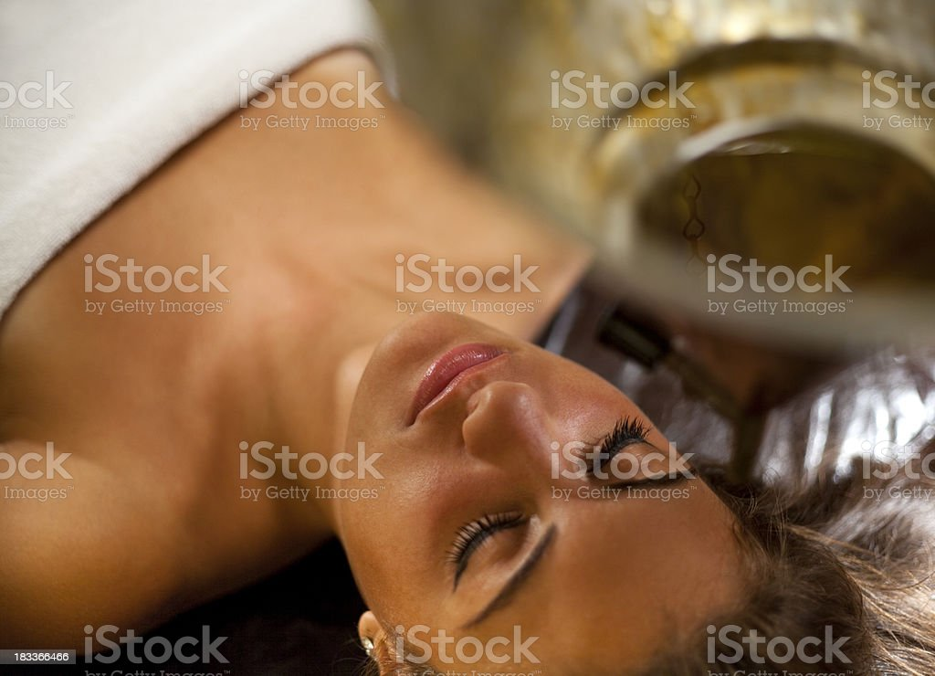 Ayurveda Spa massage stock photo