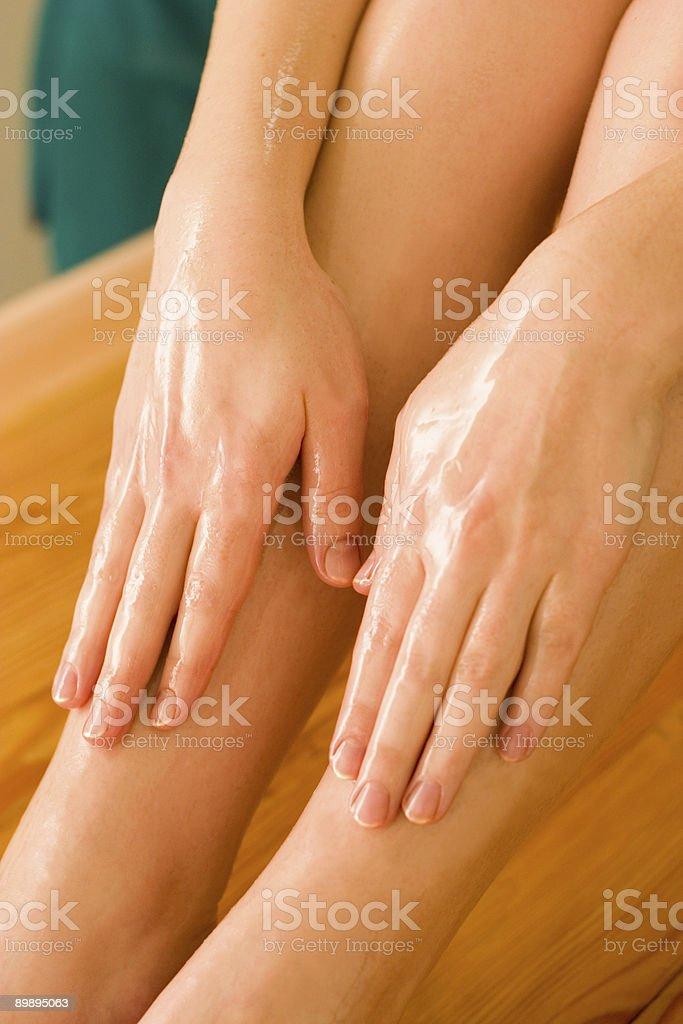 ayurvedic oil massage royalty-free stock photo