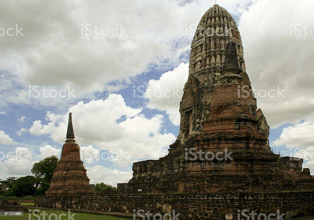 ayutthaya cloudscpae royalty-free stock photo