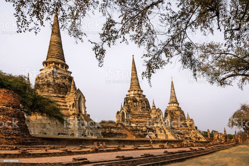 Ayutthaya Historical Park, historic attractions, shows the history of Thailand, in the province of Ayutthaya, Unseen Thailand. stock photo