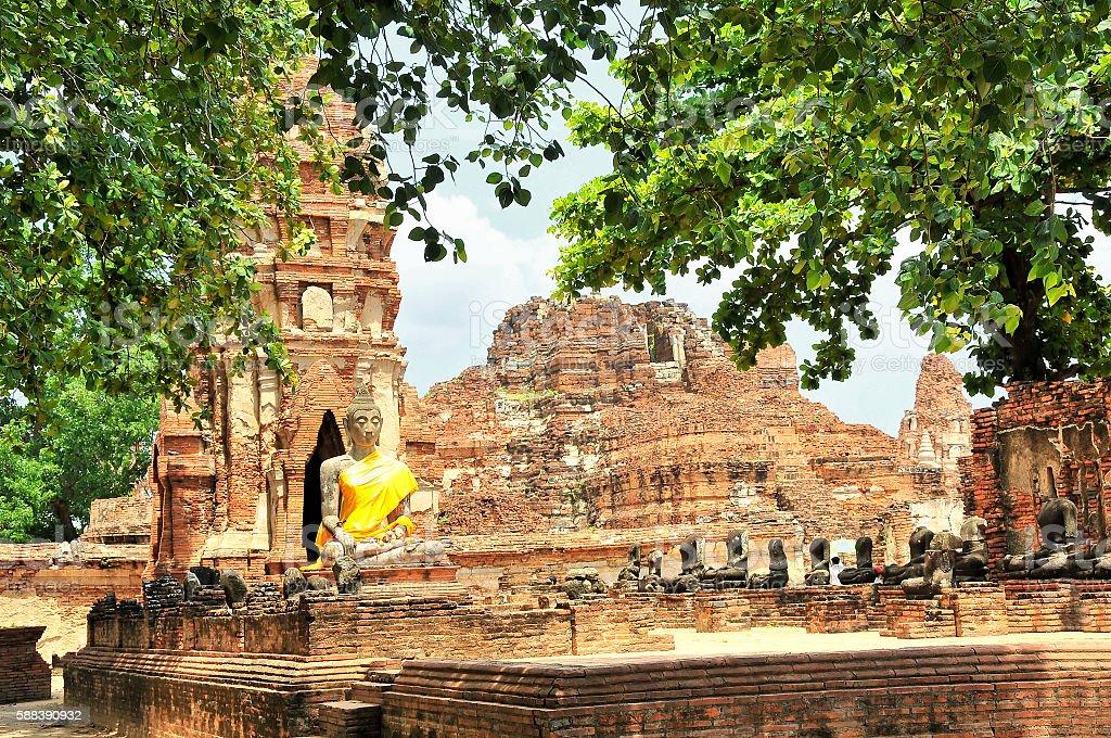 Ayutthaya Historical Park, Phra Nakhon Si Ayutthaya, Thailand stock photo