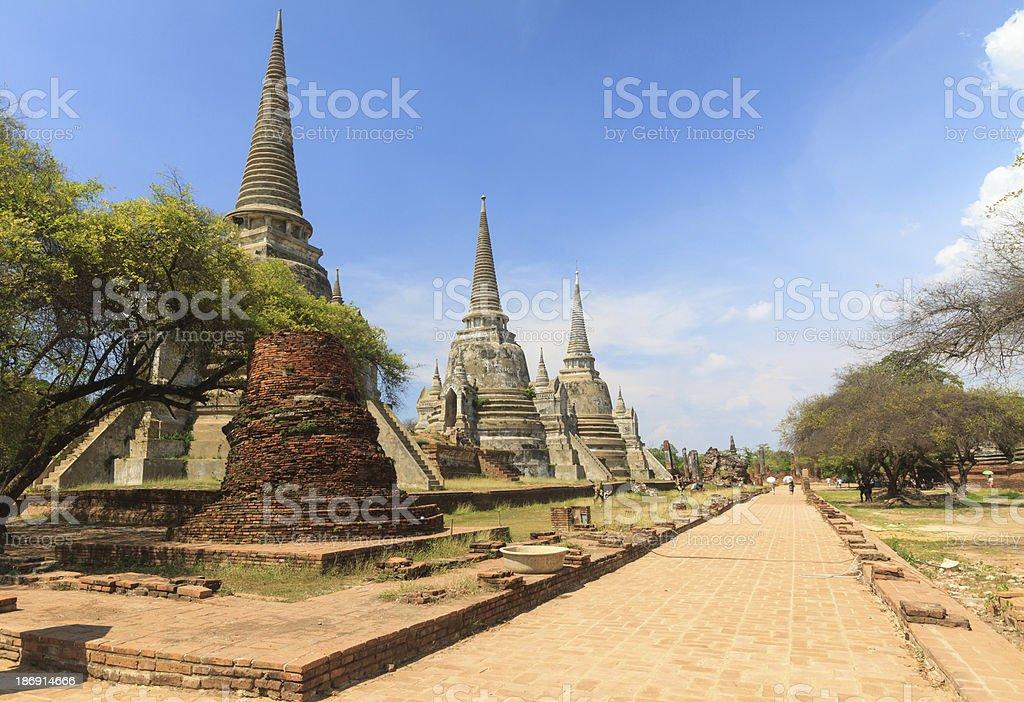 Ayutthaya Kingdom,Thailand royalty-free stock photo