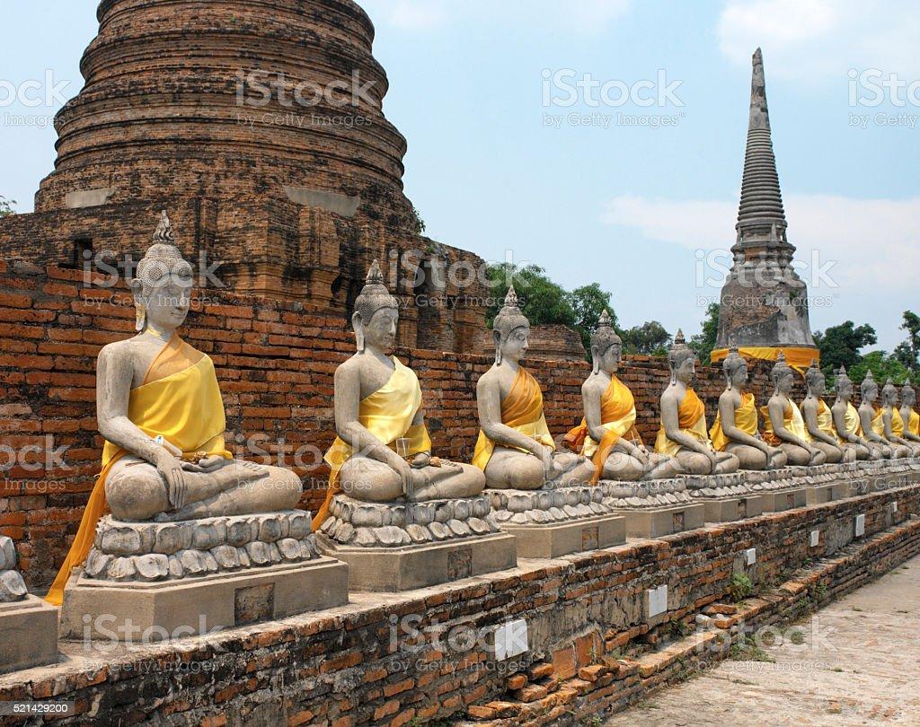 Ayutthaya near Bangkok - Thailand stock photo
