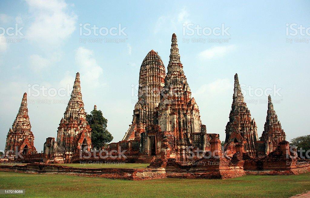 Ayutthaya, Wat Chai Wattana Ram royalty-free stock photo