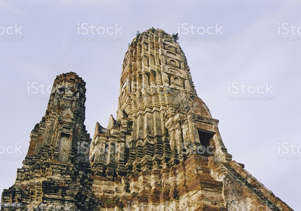 ayutthya temple architecture thailand royalty-free stock photo