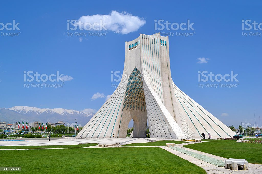 Azadi monument, gateway, Tehran, Iran stock photo