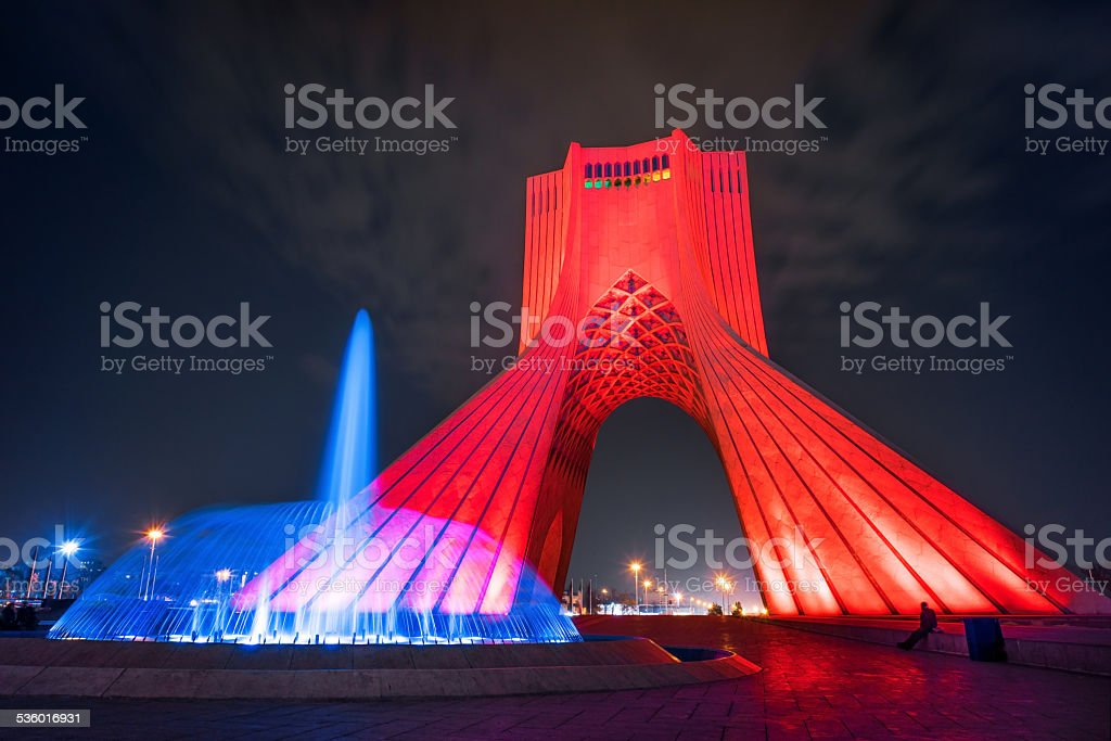 Azadi Tower, Tehran, Iran. stock photo