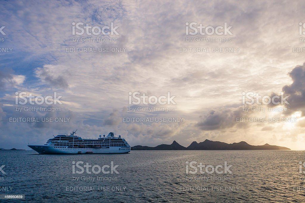 'Azamara Journey Cruise Ship, Grenadines' stock photo