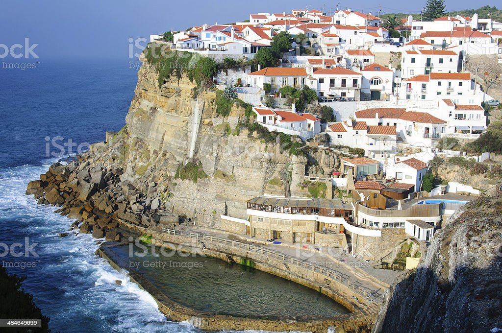 Azenhas do Mar, a beautiful town near Sintra, Portugal. stock photo