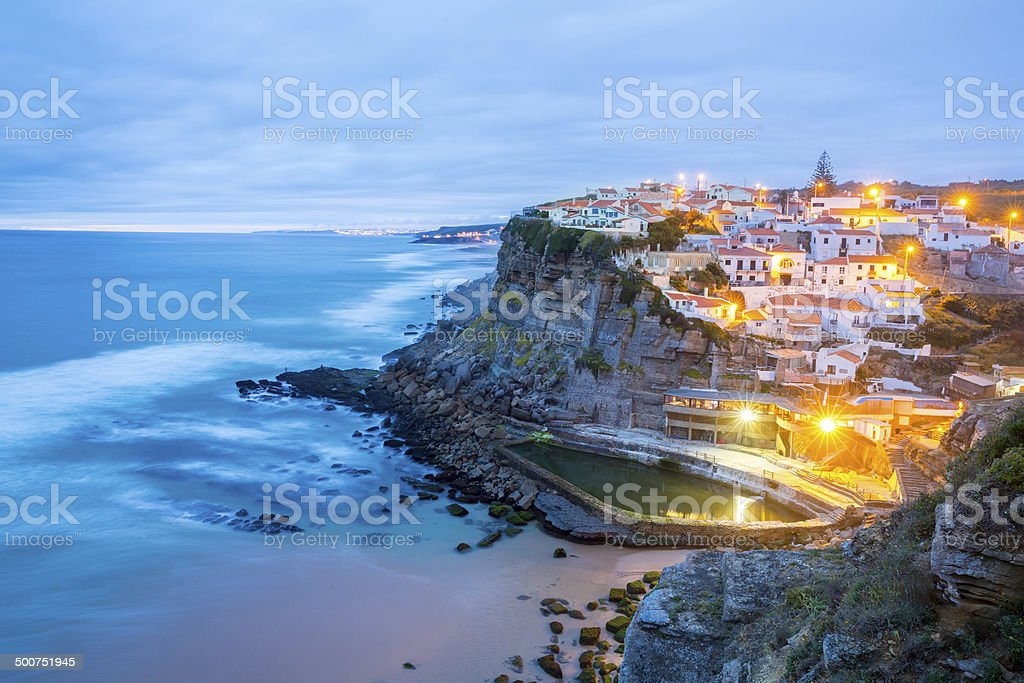 Azenhas do Mar village Sintra Portugal stock photo
