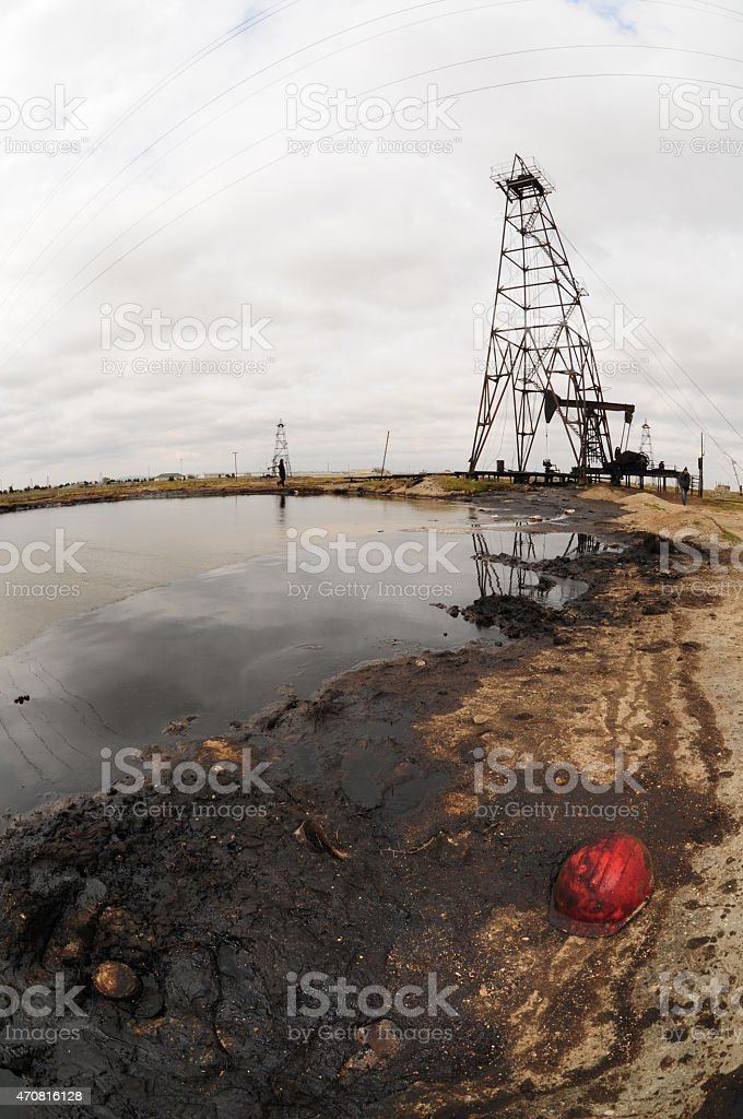 Azerbaijan oil Industry stock photo