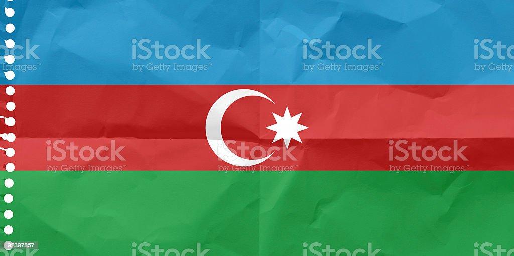 Azerbaijan, the Flag royalty-free stock photo