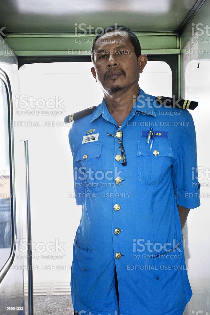 Azlan train chief. stock photo