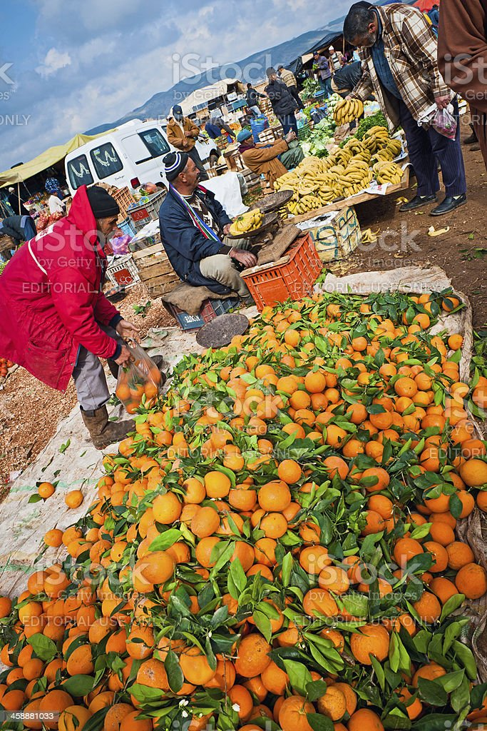 Azrou Fruit and Vegetable Market in Morocco Africa royalty-free stock photo