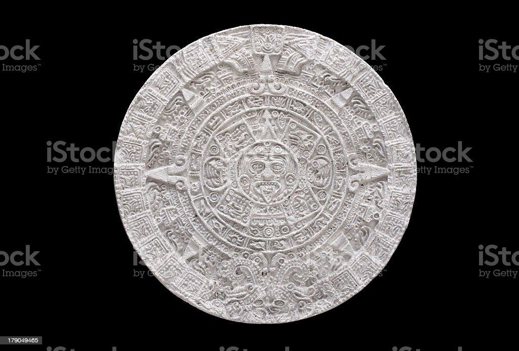 aztec calendar royalty-free stock photo