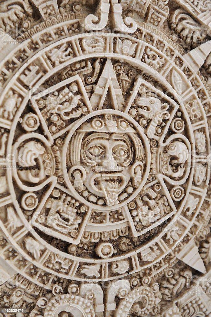 Aztec calendar, Stone of the sun stock photo