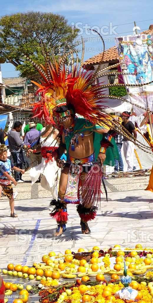 Aztec contemporary dancer stock photo