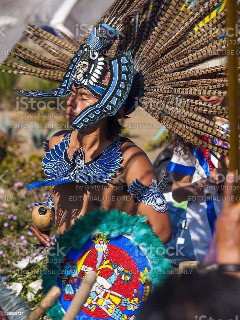Aztec Dancer Mexico City stock photo