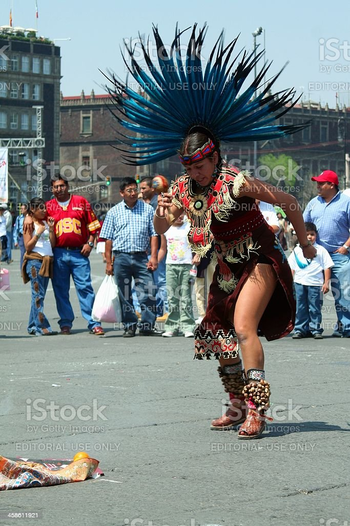 Aztec dancer royalty-free stock photo