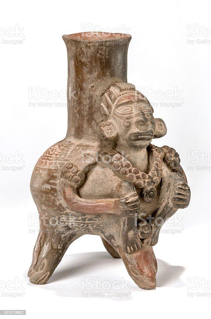 Aztec Decorated Vase stock photo