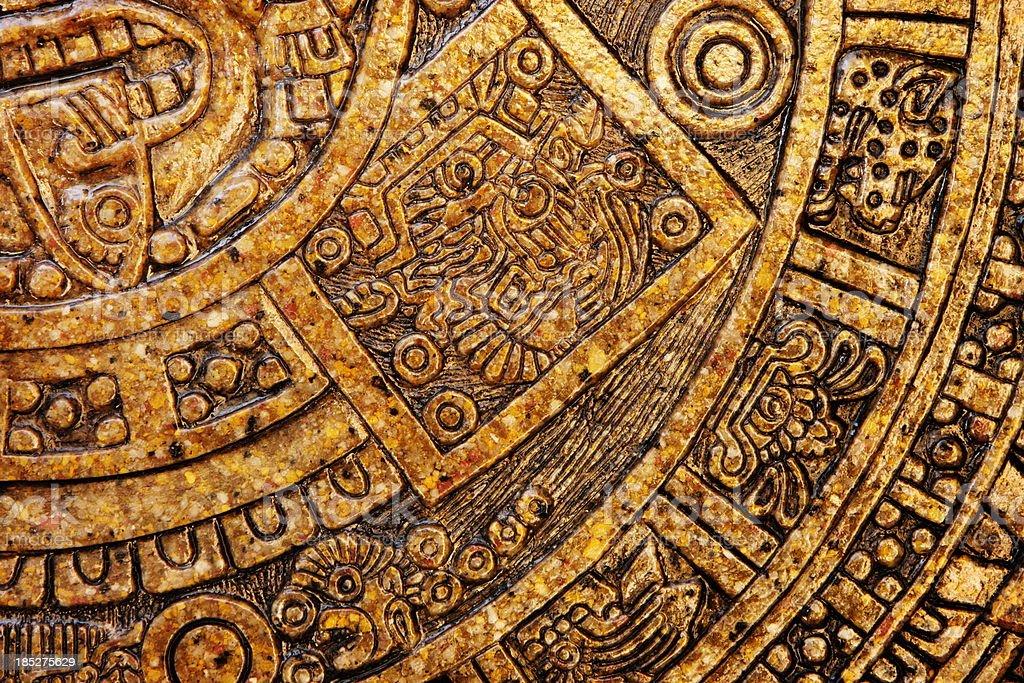 Aztec Design Ceramic Tile Decor stock photo