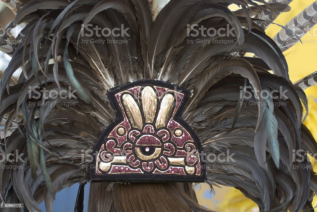 Aztec headdress stock photo