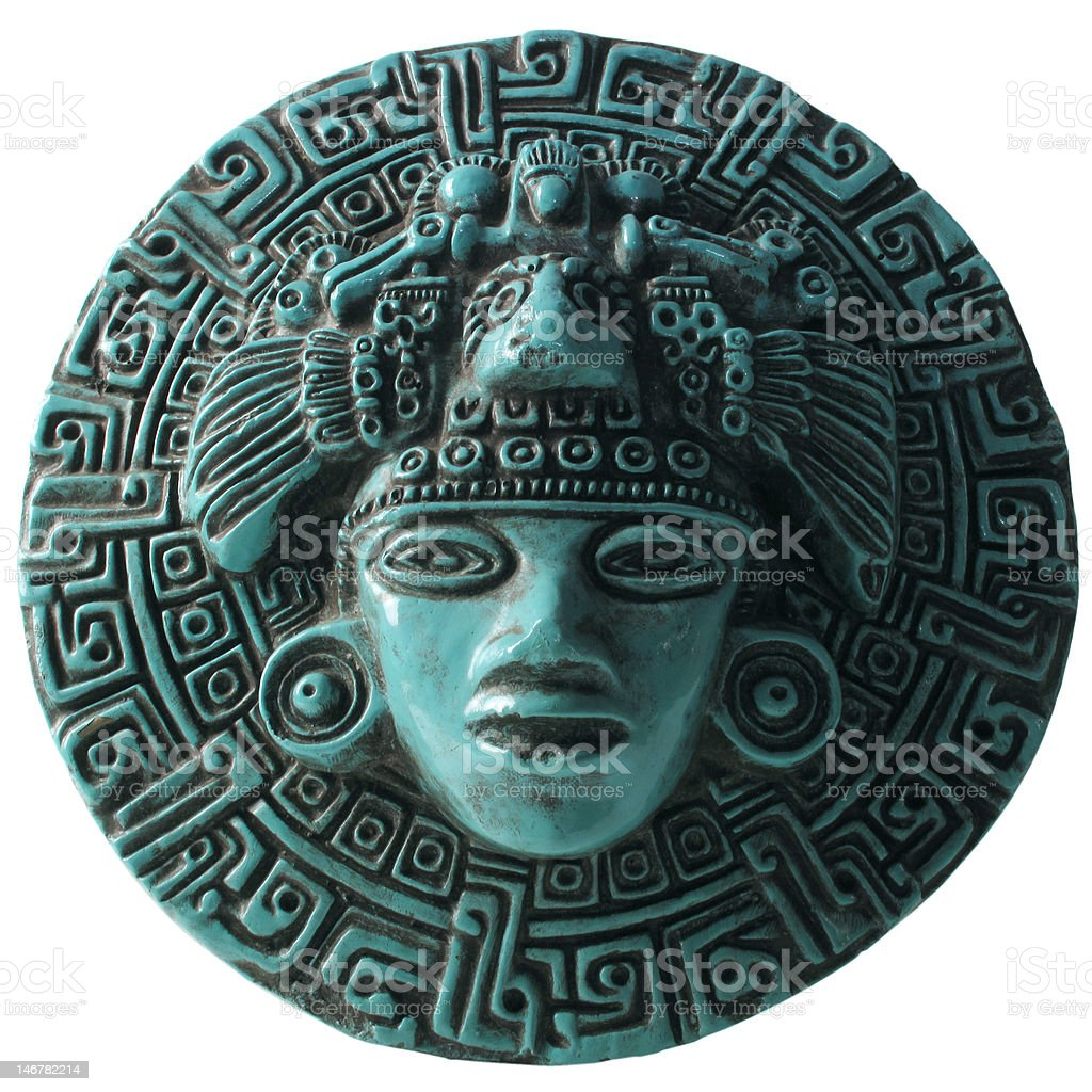 Aztec Plaque stock photo