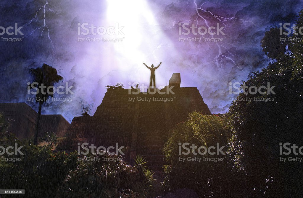 Aztec pyramid royalty-free stock photo